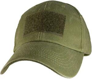 "OD Green 2"" x 3"" Hook & Loop Front Patch Hat / OD Green Baseball Cap 6418"