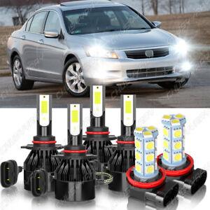 For Honda Accord 2006-2009 2010 2011 2012 LED Headlight High/Low+Fog Light Bulbs
