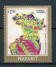 México 2017 estampillada sin montar o nunca montada Nayarit 100th aniversario 1v Set Sellos De Turismo