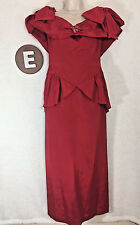 Eve of Milady Red Gown Bridesmaid Party Evening Prom Bow Poofy Dress 10