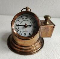 Vintage Antique Brass Nautical Maritime Copper Finish Ship Desk Clock Free Ship