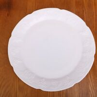 Milk Glass Grape Pattern Platter Serving Plate