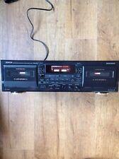 Denon cassette tape deck drw 585 double deck auto reverse dolby b c hx pro