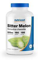 Nutricost Bitter Melon 600mg, 180 Capsules - Gluten Free, Non-GMO