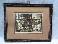 OLD INDIAN FAMILY DOING PRAYER/POOJA GENUINE VINTAGE BLACK AND WHITE PHOTOGRAPH