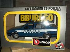 BURAGO art.0188 alfa romeo 75 polizia 1/24