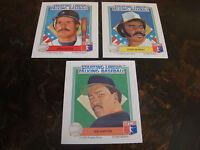 1988 Starting Lineup Talking Baseball---Team Set Cards---Lot Of 3