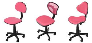 Pink Cushioned Premium Ergonomic Typist Computer Desk Office Chair