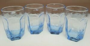 SET OF 4 LIBBEY LIGHT BLUE JUICE GLASSES CHIVALRY EDITION HOLDS 4 OZS