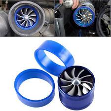 1x F1-Z Single Fan Air Intake Supercharger Turbo Turbine Fuel Gas Saver Fan Blue