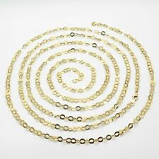 "QVC Veronese Italy 925 Sterling 18k Gold Clad Chain Oval link Necklace 20"" 6.6gr"