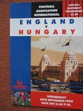 ENGLAND v HUNGARY 12th September 1990 @Wermbley