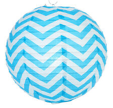 14'' Chinese Japanese Paper Lantern Turquoise Chevron Home Wedding Party Decor
