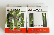 Aican Road bike brake Super Light holder shoes catridge fit Shimano, Green, 2 pc