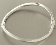 Geschwungener Armreif Silber 925 schlichter Armreif vierkant Silberreif Armkette