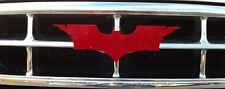 RED BATMAN CUSTOM GRILLE EMBLEM NEW~ CHEVY FORD DODGE TOYOTA GMC JEEP BMW