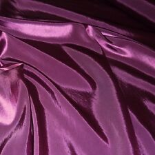 Plain Purple Silky Taffeta Fabric - Weddings - Prom (Per Metre)
