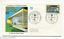 FRANCE 1968, FDC 1° JOUR, CONFERENCE COOPERATION ENSEIGNEMENT, timbre 1554