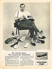 PUBLICITE ADVERTISING   1961   HUTCHINSON AIGLE   chaussures de détente