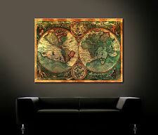 OLD WORLD Weltkarte Bild Bilder Leinwand No Poster Wandbild Antike Alte Welt XXL