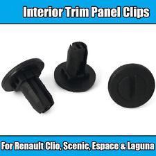 Clips de 10x para Panel guarnecido interior Renault Clio Escénico Espace Laguna De Nylon Negro