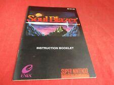 Soul Blazer Super Nintendo SNES Instruction Manual Booklet ONLY #B1