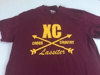 Lassiter Trojans T-Shirt Adult XS/S Cross Country Running Alumni Student Grad XC