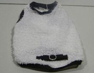 Doggie White Fuzzy Shirt with Glittery Bow - Black Size L