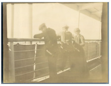 "Steamer ""Columbia"" from the Hamburg - America Line. Promenade deck  Vintage citr"
