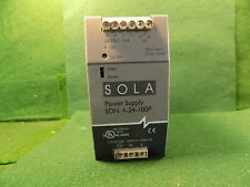 1 Sola Sdn 4 24 100p 24vdc 4 Amp Power Supply Used