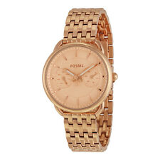 Fossil Tailor Multifunction Rose Dial Rose Gold-tone Steel Ladies Watch ES3713