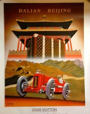 Signed Razzia Louis Vuitton China Run Beijing Poster Mounted on Linen