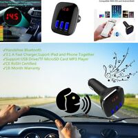 Wireless Bluetooth 4.0FM Transmitter MP3 Player Car Kit Charger 3 USB For iPhone