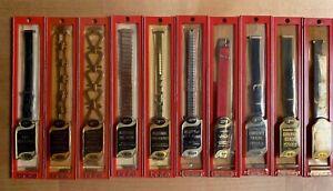 10 Vintage NOS Wrist Watch Bands Brite Silver Gold Leather Flex Twist Art Deco