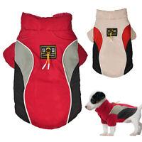 Hundemantel Winter Hundejacke Welpen Mantel Winterjacke für Hund Chihuahua Rot