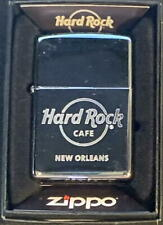 Hard Rock Cafe New ORLEANS Chrome Silver ZIPPO Lighter Sealed New Card Sticker