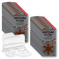 120 Rayovac Extra Advanced Hörgerätebatterien PR41 braun 312 + Box f. 2 Zellen