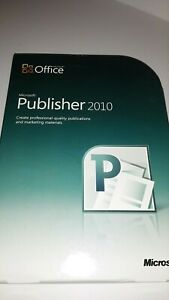 "Microsoft Office "" Publisher 2010 "" With Product Key Included Pre-Owned"