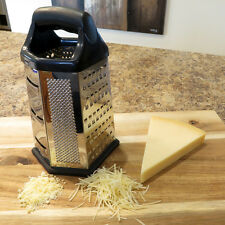 """Evelots® Cheese Grater Vegetable Slicer Stainless Steel, 6 Sided, 9.5""""H"""
