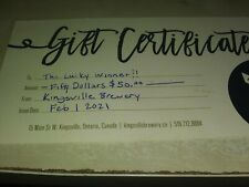 Kingsville Brewery $50 Gift Certificate