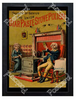 Historic Star Paste Stove Polish Advertising Postcard