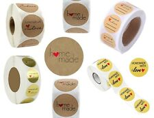 Round Labels Homemade Home Made Food Gift Business Party Craft Stickers 2.5cm