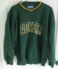 Starter Green Bay Packers Men's XL SweatShirt Long Sleeve Green Embroidered