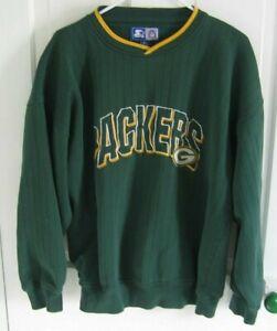 Vitg 90s Starter Green Bay Packers Men's XL Sweatshirt Long Sleeve Embroidered