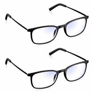 Reading Glasses 2 Pack Blue Light Blocking Computer & Screen Glasses Read Optics