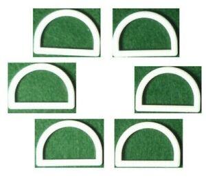 6 Halbringe Plastic - for Selection