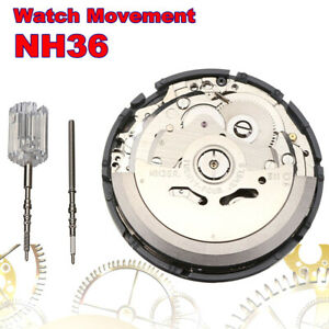 1pc Automatic Mechanical Watch High Accuracy NH35/NH36 Day Date Display Movement