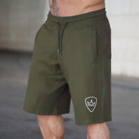 Men Cotton Fitted Shorts Bodybuilding Workout Gym Running Lifting Workout Pants