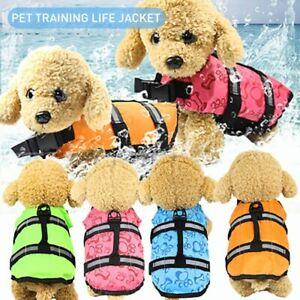 Pet Life Vest Jacket Safety Buoyancy Flotation Swimwear Clothes For Cat Dog