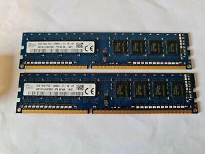 8GB ( 2 x 4GB ) PC3-12800 DDR3-1600 MHz NON ECC RAM HYNIX HMT451U6AFR8C